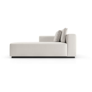 Spruce Chalk Fabric Modular Left Chaise