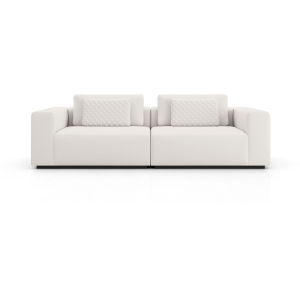 Spruce Chalk Fabric Sectional Two Seat Sofa