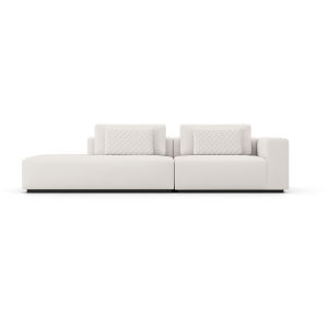 Spruce Chalk Fabric Right-Arm Sectional Sofa with End Unit
