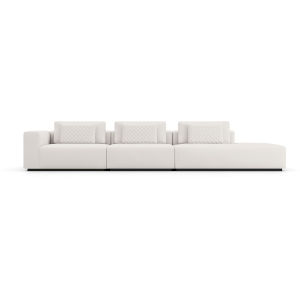 Spruce Chalk Fabric Left Arm Sectional Sofa with End Unit