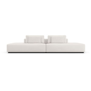 Spruce Chalk Fabric Sectional Two Sided End Unit