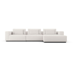 Spruce Chalk Fabric Right Sectional Sofa with Chaise