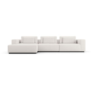 Spruce Chalk Fabric Left Sectional Sofa with Chaise