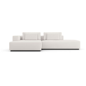 Spruce Chalk Fabric Left-Facing Sectional Chaise and End Unit