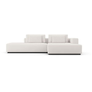 Spruce Chalk Fabric Right-Facing Sectional Chaise and End Unit