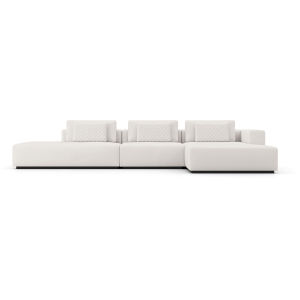 Spruce Chalk Fabric Right Sectional Chaise and End Unit