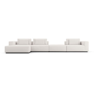 Spruce Chalk Fabric Sectional Sofa with Chaise