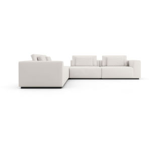Spruce Chalk Fabric Sectional L-Sofa