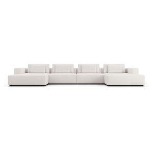 Spruce Chalk Fabric Sectional U Sofa