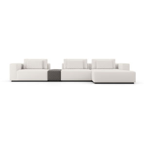 Spruce Chalk Fabric Right Sectional Sofa with Chaise and Armrest