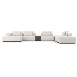 Spruce Chalk Fabric Right Sectional Sofa with End Unit and Chaise