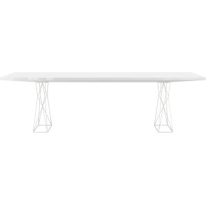 Curzon Glossy White 102-Inch Dining Table