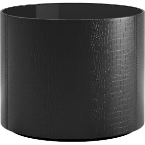 Berkeley Black Glass Side Table