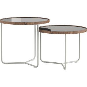 Adelphi Ice Glass Nesting Table