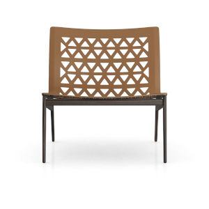 Elmstead Caramel Leather Lounge Chair