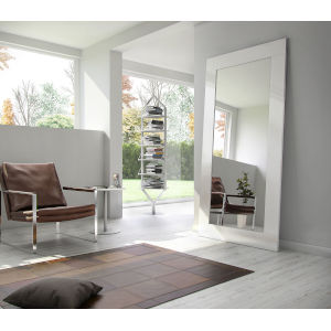 Norfolk Glossy White Mirror