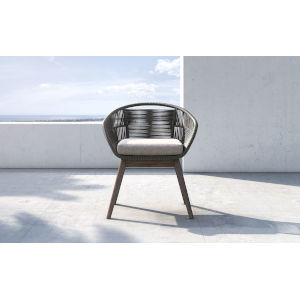 Jesper Dark Gray Cord Outdoor Dining Chair