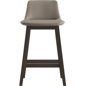 Mercer Castle Gray Eco Leather 33-Inch Counter Stool