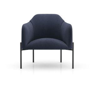 Tiemann Medieval Blue Fabric Lounge Chair