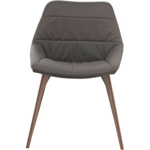 Rutgers Deep Taupe Leather Dining Chair