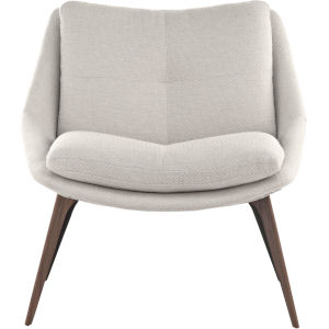 Columbus Birch Fabric Lounge Chair