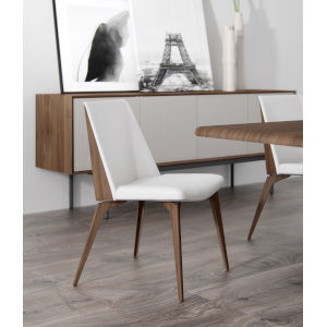 Orchard White Leather Dining Chair