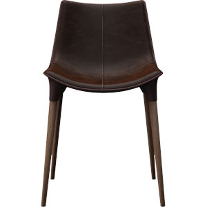 Langham Aged Mocha Leather Dining Chair