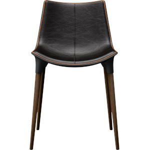 Langham Aged Onyx Leather Dining Chair