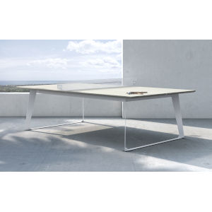 Amsterdam White Sand Concrete Outdoor Ping Pong Table