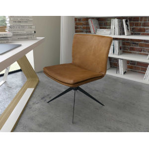 Duane Aged Caramel Leather Office Chair
