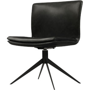 Duane Aged Onyx Leather Office Chair
