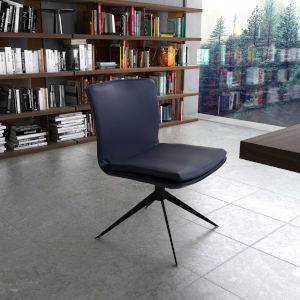 Duane Navy Leather Office Chair