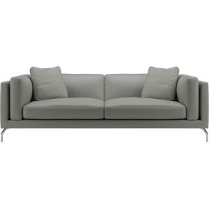 Reade Warm Gray Leather Sofa