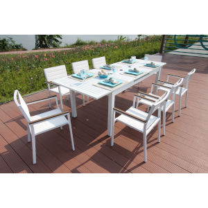 Avallon White Outdoor Dining Set, 9-Piece