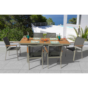 Essence Seagull and Pewter Outdoor Dining Set, 7-Piece