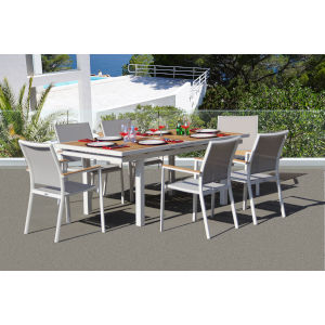 Essence Mouse Grey Outdoor Dining Set, 7-Piece