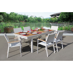 Essence White Outdoor Dining Set, 7-Piece