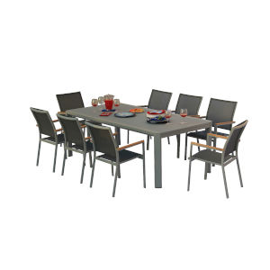 Essence Pewter Outdoor Dining Set, 9-Piece