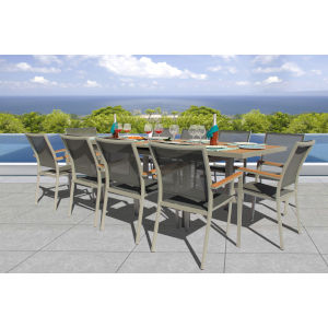 Essence Seagull and Pewter Outdoor Dining Set, 11-Piece