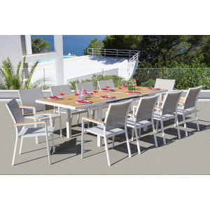 Essence Mouse Grey Outdoor Dining Set, 11-Piece