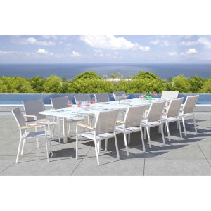 Essence Mouse Grey Outdoor Dining Set, 13-Piece