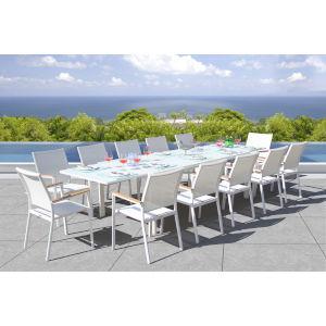 Essence White Outdoor Dining Set, 13-Piece