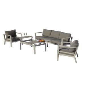 Ritz Seagull and Ash Outdoor Deep Seating Sofa Set, 4-Piece