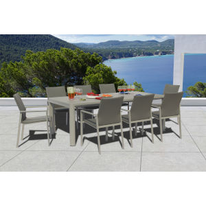 Ritz Seagull and Ash Outdoor Dining Set, 9-Piece