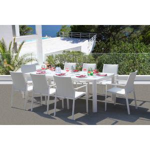 Ritz White Outdoor Dining Set, 9-Piece