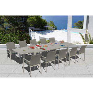 Ritz Seagull and Ash Outdoor Dining Set, 11-Piece
