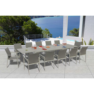 Ritz Seagull and Ash Outdoor Dining Set, 13-Piece