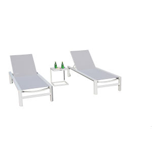 Coast Mouse Grey Outdoor Chaise Lounge Set, 3-Piece