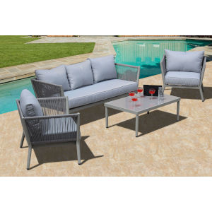 Greenwich Gray Outdoor Estate Sized Deep Seating Set, 4-Piece