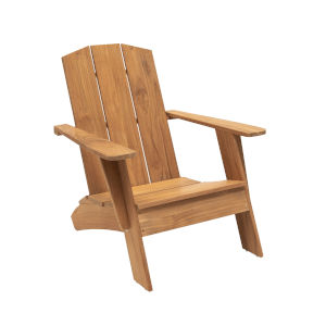 Bainbridge Natural Sand Teak  Outdoor Adirondack Chair